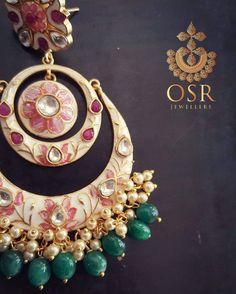Pearl Meenakari Chandbali with lovely lotus just looks amazing this wedding season . To order whatsapp : 07838119986