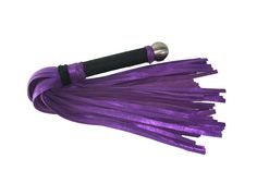 A beautiful sparkly pink huge flogger with over a hundred falls. I sell these and more bdsm toys at http://www.whipsbywolf.com/
