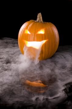 How To Use Dry Ice For Halloween Pumpkin Carving