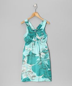Look what I found on #zulily! Aqua Poppy Dress by Kitty Kat #zulilyfinds
