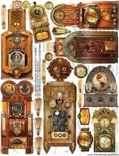 The wait is over, the identity of the new tenant of the house on Irongate Street is none other than H. Steampunk Machines, Vintage Halloween Decorations, Halloween Diy, Thing 1, Collage Sheet, Digital Collage, Medium Art, Shadow Box, Digital Image