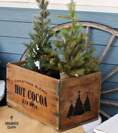 Garage Sale Crate Gets Early Christmas Makeover