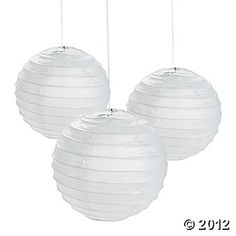 White Paper Lanterns, Paper Lanterns, Party Decorations, Party Themes & Events - Oriental Trading