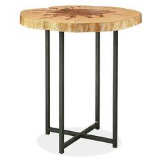 Allard End Tables in Natural Steel - Modern End Tables - Modern Living Room Furniture - Room