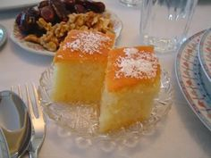 Revani- syrup cake from Berea, Greece:)