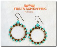 """https://flic.kr/p/fmJHYA   Fiesta Sun Earrings   These bright, playful earrings will light up your Summer days! So fun and easy to make. Tutorial here: <a href=""""http://www.erinsiegeljewelry.blogspot.com/2013/08/sun-fiesta-earrings-tutorial.html"""" rel=""""nofollow"""">www.erinsiegeljewelry.blogspot.com/2013/08/sun-fiesta-ear...</a>"""