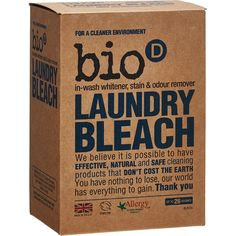 bio D Laundry Bleach – Natural laundry Bleach without Chlorine Also great for cleaning tea stains in mugs and mouldy tiles Zero Waste I Plastic Free I Eco Freindly I Natural Cleaning Tips Safe Cleaning Products, Cleaning Hacks, Eco Products, Tablet Recipe, Laundry Powder, Homemade Toilet Cleaner, Odor Remover, Septic Tank, Tea Stains