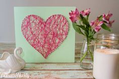 Valentine Ideas, Valentine Decorations, Valentines, String Art, Different Shapes, Pretty Little, Heart Shapes, Your Design, Alice