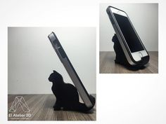Soporte para el celular con mucho estilo! Gato El Atelier 3D #hechoencali #3dprinting #3dprintshop #impresion3d #impresion3dcolombia by elatelier_3d