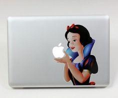 Snow White Macbook Sticker