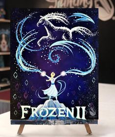 We're excited to announce that we have teamed up with Disney for the new Frozen 2 movie! These exclusive events will end November We can't wait to see you in studio! Simple Canvas Paintings, Easy Canvas Painting, Beautiful Paintings, Diy Painting, Watercolor Paintings, Disney Canvas Art, Disney Art, Disney Ideas, Disney Stuff