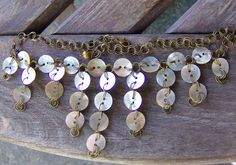 Necklace, Mother of Pearl Buttons