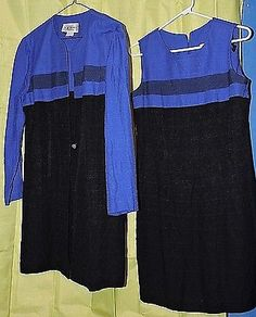 2 PC SL Fashions Sheath Dress +  Coat Set Size 8