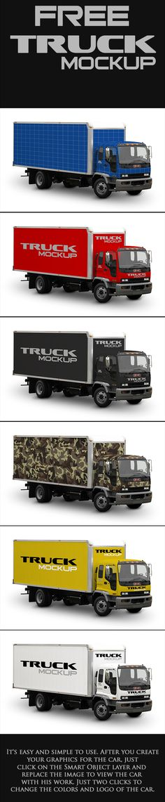 Free Mock-Up Truck Cargo (8.62 MB) By Rogerio Marcos on Behance | #free…