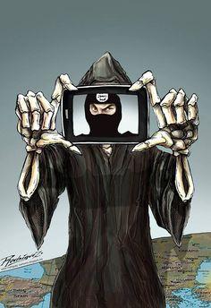 A Selfie  Cartoon by Antonio Rodriguez Garcia , Mexico