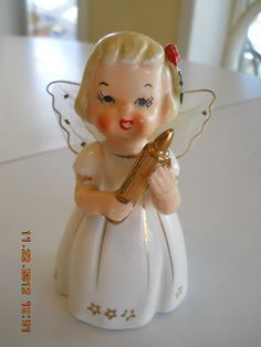 Vintage Eames Era Ceramic Christmas Angel Figurine (1950's Japan) | eBay
