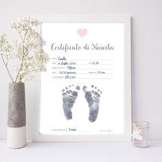 Poster Certificato nascita quadro bambina, quadretto stampabile Digitale - Poster ricordo bimbo nascita - idea regalo https://etsy.me/2xnoblU #articoliperlacasa #complementidarredo #rosa #bambini #disegnoeprogettazione #festadellamamma #battesimo #baby #bambino