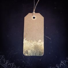 Gold Leaf on Kraft Gift Tags Set of 6 by ShopAngelaAllen on Etsy, $8.00