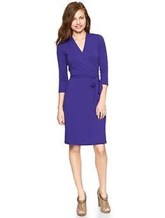 Another wrap dress, this one is priced perfectly.  Solid wrap dress