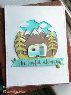 PTI: Anniversary Challenge- Day 3 Grab & Craft // be joyful Camping Cards, Karten Diy, Fancy Fold Cards, Shaker Cards, Cute Cards, Anniversary Cards, Greeting Cards Handmade, Scrapbook Cards, Homemade Cards