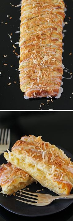Almond Coconut Pastry Braid: a crisp, golden, buttery, almond coconut masterpiece that's so simple to make. If you're afraid of dough, please do give this a shot. You'll never find an easier recipe for a dough beginner!