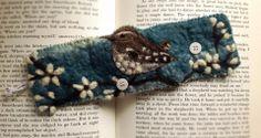 Lou Tonkin- Art & Graft Gorran, United Kingdom Cute Bookmarks, Stitch Pictures, Felt Fabric, Soft Sculpture, Felt Animals, Textile Art, Needle Felting, Fiber Art, Wool Felt