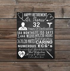 Items similar to Printable Retirement Gift for Doctor, Personalised Gift, dr, Leaving Doctor, Doctor Gift, Retirement gift, women, Doctor, nurse, ...