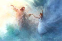 Pictures Of Jesus Christ, Jesus Christ Images, Jesus Jose Y Maria, Arte Lds, Dancing With Jesus, Christian Artwork, Christian Artist, Lds Art, Jesus Painting