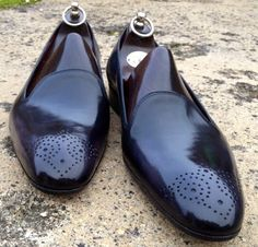 Gaziano & Girling Whole Cut Loafer with Medallion