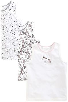 Buy White Unicorn Vests Three Pack (1.5-12yrs) from the Next UK online shop