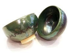 Two wheel-thrown bowls as a set with by SpinningSongPottery