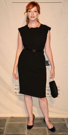 Love this look on her! Christina Hendricks