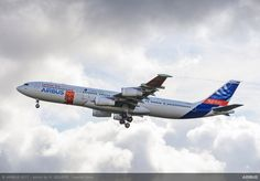 """Airbus' A340 laminar-flow BLADE test demonstrator aircraft has made its successful maiden flight for the EU-sponsored Clean Sky """"Blade"""" project."""
