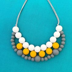 Silicone teething necklace: woven bib necklace (mustard) – Carly Dove Boutique
