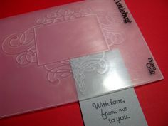 Cuttlebug tips / just use part of the embossing folder for an accent to the corner of a card/tag