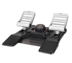 SAITEK COMBAT RUDDER PEDALS. Inspirado por los diseños de pedales que se encuentran en los aviones de combate modernos tales como el F16 o F35, los pedales de timón se construyen a partir de una aleación altamente resistente, proporcionando durabilidad y autenticidad para los más exigentes aspirantes a piloto. Precio de 180.00€