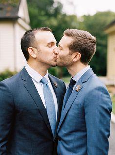 Intimate + Elegant Same-Sex Fall Wedding in North Carolina Lgbt Wedding, Wedding Men, Wedding Suits, Fall Wedding, Wedding Bells, Wedding Stuff, Wedding Photos, Gay Men Weddings, Gay Lindo