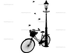 Bike and lamp post