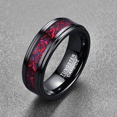 black wedding rings Tungsten Carbide Dragon Ring For Men/Women Cool Rings For Men, Rings Cool, Morganite Engagement, Engagement Rings, Bridal Rings, Wedding Rings, Dragon Ring, Tungsten Carbide, Band Rings