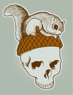 squirrels and skulls... my two favorite motifs!