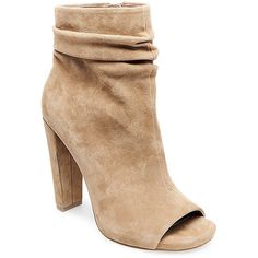 Steve Madden Women's Ellison Booties ($150) ❤ liked on Polyvore featuring shoes, boots, ankle booties, suede high heel boots, suede booties, suede ankle booties, faux suede booties and ankle boots