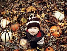 fall first birthday shoot
