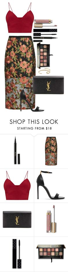"""Untitled #1712"" by fabianarveloc on Polyvore featuring Guerlain, Topshop, Tom Ford, Yves Saint Laurent, Stila, Gucci, Anastasia Beverly Hills and Fay Andrada"