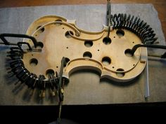 Violinmaking clamps, way too many.