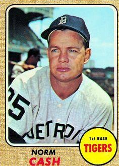 Norm Cash 1968 First Base - Detroit Tigers  Card Number: 256