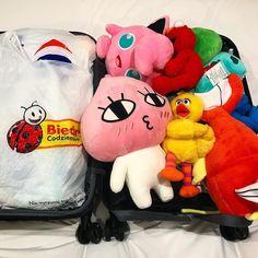 Olać świeżaki!! Wjeżdżamy z nową ekipą! #asia #pokemon #biedra #biedronka #zabawki #pluszaki #świeżaki #travel #packing #luggage @tokarzewska #kakaofriends #apeach #ulicasezamkowa #baja #bajka #elmo #jigglypuff
