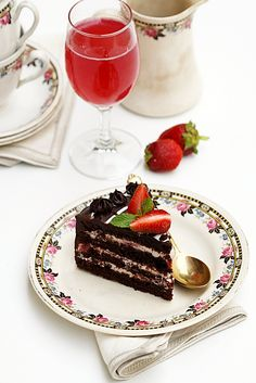 A layered cake, EGGLESS, no butter ... deeply decadent and 'chocolaty' moist!