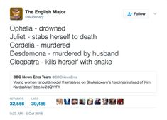 17 Tweets About Shakespeare Guaranteed To Make You Laugh