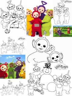 Free printable Teletubbies  coloring pages for kids, holiday coloring sheets