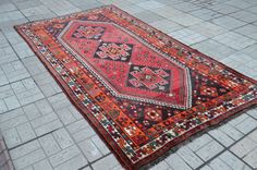 Vintage Persian rug. Tribal Persian carpet. by Handcraftcollector